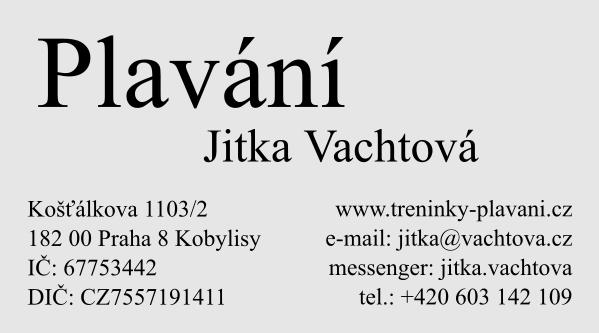 Jitka Vachtová - výuka plavání